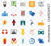 set of 25 transparent icons... | Shutterstock .eps vector #1160026927