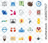 set of 25 transparent icons... | Shutterstock .eps vector #1160027017