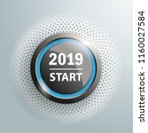 button with text 2019 start on...   Shutterstock .eps vector #1160027584