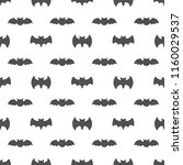 seamless pattern with bats.... | Shutterstock .eps vector #1160029537