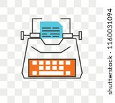 typewriter vector icon isolated ... | Shutterstock .eps vector #1160031094