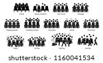 audience  crowd  and people... | Shutterstock .eps vector #1160041534