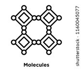 molecules icon vector isolated...   Shutterstock .eps vector #1160045077