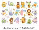 animal woodland autumn vector...   Shutterstock .eps vector #1160045401