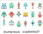 different cute fantastic robots ... | Shutterstock .eps vector #1160045437