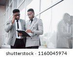 business communication. two... | Shutterstock . vector #1160045974