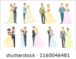 couples posing together on... | Shutterstock .eps vector #1160046481