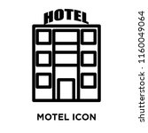 motel icon vector isolated on... | Shutterstock .eps vector #1160049064