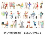 people with artistic... | Shutterstock .eps vector #1160049631