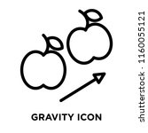 gravity icon vector isolated on ... | Shutterstock .eps vector #1160055121