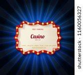 retro light sign. vintage style ... | Shutterstock .eps vector #1160056327