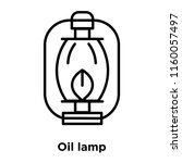 oil lamp icon vector isolated... | Shutterstock .eps vector #1160057497