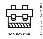 toolbox icon vector isolated on ... | Shutterstock .eps vector #1160058064