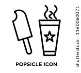 popsicle icon vector isolated... | Shutterstock .eps vector #1160060071