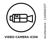 video camera icon vector...