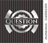 question silvery shiny badge | Shutterstock .eps vector #1160062204