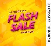 flash sale template design  ... | Shutterstock .eps vector #1160062564