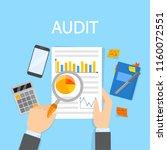 audit concept. business or... | Shutterstock .eps vector #1160072551