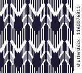 ikat seamless pattern design.... | Shutterstock .eps vector #1160076811