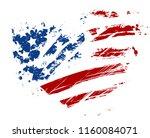 grunge usa flag   splattered...   Shutterstock . vector #1160084071