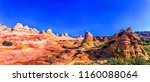 red rock canyon desert... | Shutterstock . vector #1160088064