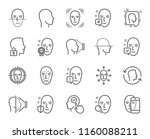 face recognition line icons.... | Shutterstock .eps vector #1160088211