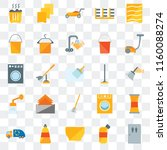 set of 25 transparent icons... | Shutterstock .eps vector #1160088274