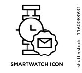 smartwatch icon vector isolated ... | Shutterstock .eps vector #1160088931