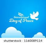 international day of peace.... | Shutterstock .eps vector #1160089114