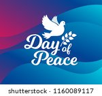 international day of peace.... | Shutterstock .eps vector #1160089117