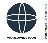 worldwide icon vector isolated... | Shutterstock .eps vector #1160090971