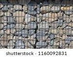 close up view of a steel gabion ... | Shutterstock . vector #1160092831