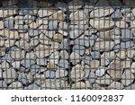 close up view of a steel gabion ... | Shutterstock . vector #1160092837