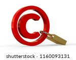 copyright symbol concept with... | Shutterstock . vector #1160093131