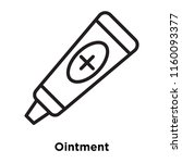 ointment icon vector isolated... | Shutterstock .eps vector #1160093377