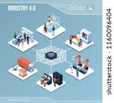 digital core  industry 4.0 ... | Shutterstock .eps vector #1160096404