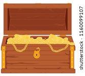 vector pirate treasure chest... | Shutterstock .eps vector #1160099107