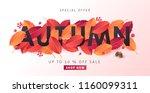 autumn sale background layout... | Shutterstock .eps vector #1160099311