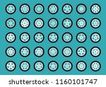 set of color wheel. design... | Shutterstock .eps vector #1160101747