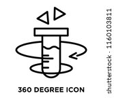 360 degree icon vector isolated ... | Shutterstock .eps vector #1160103811