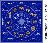 vector graphics astrology set.... | Shutterstock .eps vector #1160105254