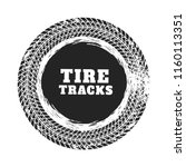 tire track circle background... | Shutterstock .eps vector #1160113351