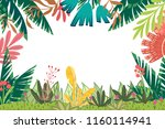 vector background with frame of ... | Shutterstock .eps vector #1160114941