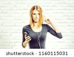 young pretty woman or...   Shutterstock . vector #1160115031
