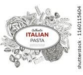 sketch pasta banner  vector... | Shutterstock .eps vector #1160115604