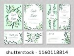 eucalyptus design. wedding... | Shutterstock .eps vector #1160118814