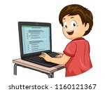illustration of a kid boy... | Shutterstock .eps vector #1160121367