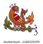 abstract image of a bird... | Shutterstock .eps vector #1160123194