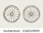 big round shape metal range on... | Shutterstock .eps vector #1160124094