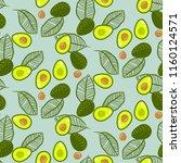 avocado green on pastel mint... | Shutterstock .eps vector #1160124571